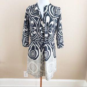 Anthropologie Maeve patterned shirt dress.